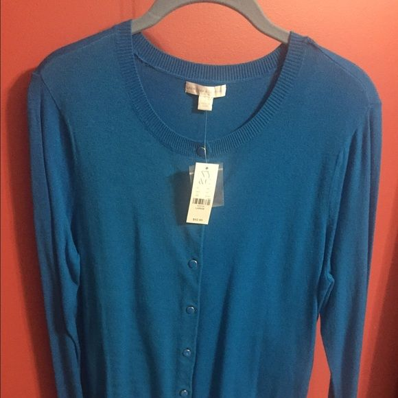 New York and Company Blue Cardigan size L NWT Blue New York and Company Cardigan  size L New York & Company Sweaters Cardigans