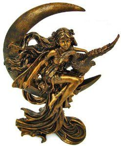 Crescent Moon Fairy Statue. Fairies Were An Important Part Of The Lives Of  The Atlantean
