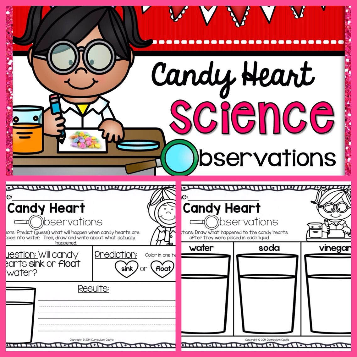 hight resolution of Valentine's Day Science: Candy Heart Experiment {FREE}!   Science valentines