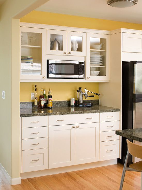 Saving Space 15 Ways Of Mounting Microwave In Upper Cabinets Built In Microwave Cabinet Kitchen Cabinet Styles Contemporary Kitchen