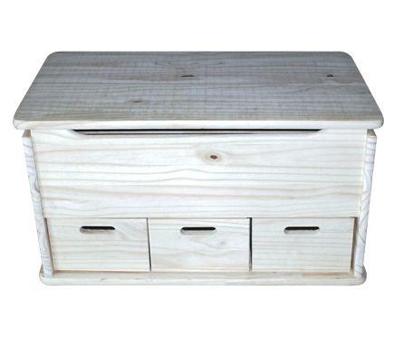 Ba l de madera 3 cajones leroy merlin ba l pinterest for Cajas almacenaje leroy merlin