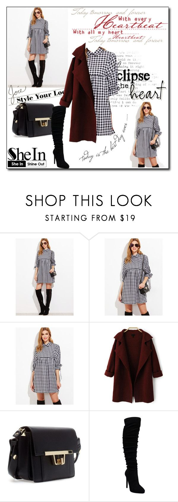 """""""Black And White Gingham Tie Sleeve Babydoll Dress"""" by pavicmartina ❤ liked on Polyvore featuring Joie"""