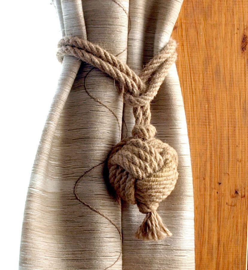 Set Of 2 Nautical Rope Curtain Tie Backs