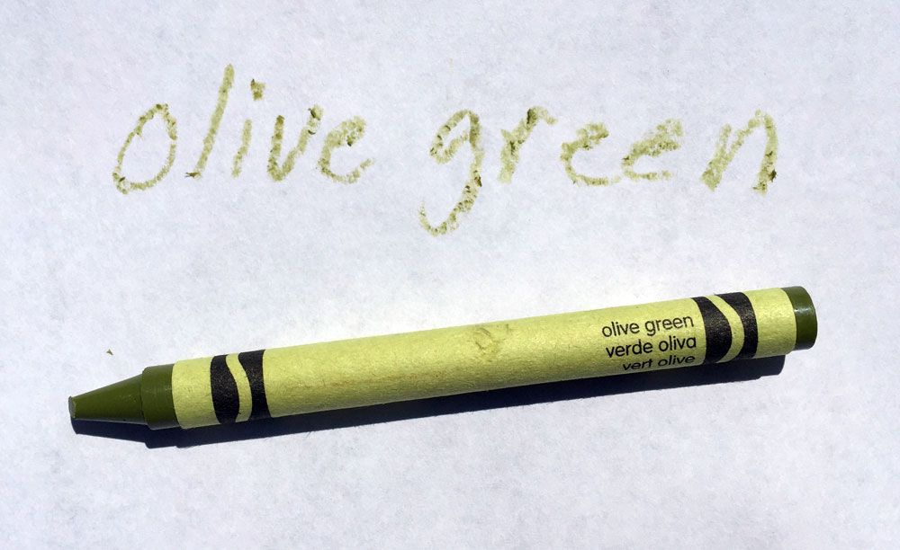 Image result for olive green crayon