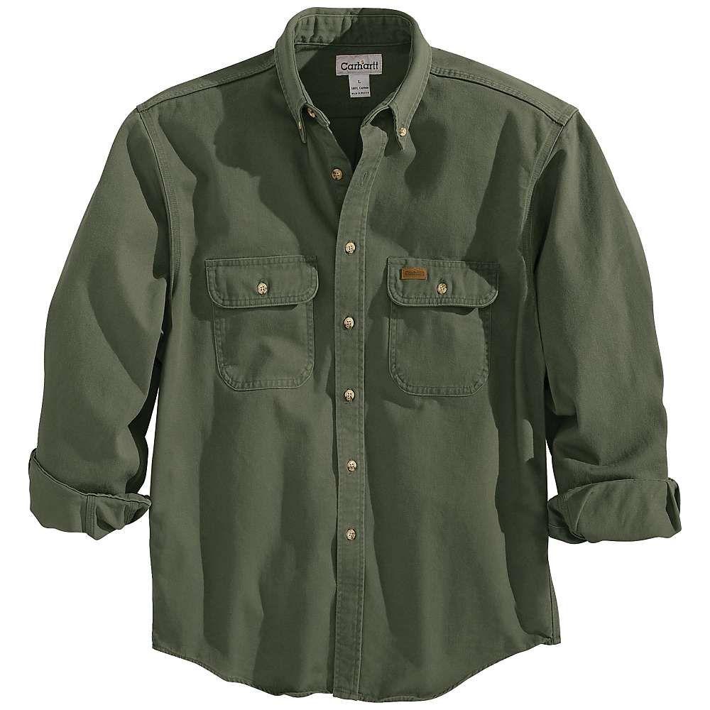 Carhartt Men S Oakman Work Shirt 4xl Regular Moss Work Shirts Carhartt Mens Shirts