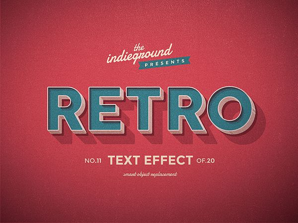 Retro Vintage Text Effects Vol 2 Indieground Design Retro Text Vintage Text Text Effects