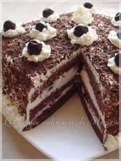 Foret Noire En 2018 Entremets Bavarois And Co Pinterest Gateau