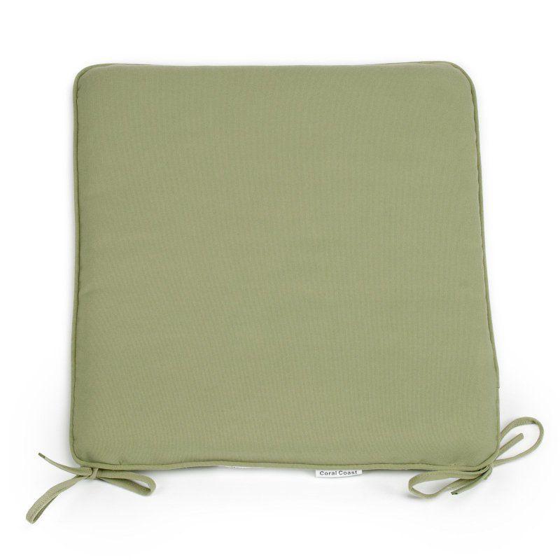 Outdoor Furniture Seat Pad Sage Green - M029 - Coral Coast Classic 21 X 19 In. Outdoor Furniture Seat Pad Sage