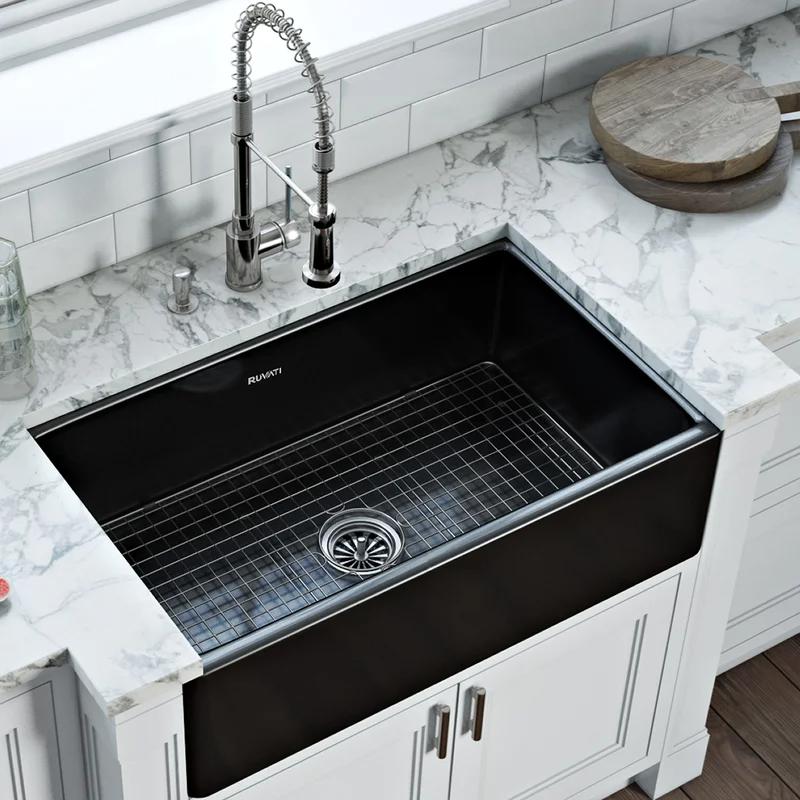 30 L X 20 W Farmhouse Kitchen Sink In 2021 Farmhouse Sink Kitchen Black Farmhouse Sink Apron Front Kitchen Sink