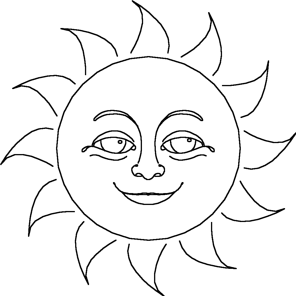 coloring pages sunshine - photo#29