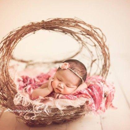 Newborn photography prop woodland basket jd vintage props