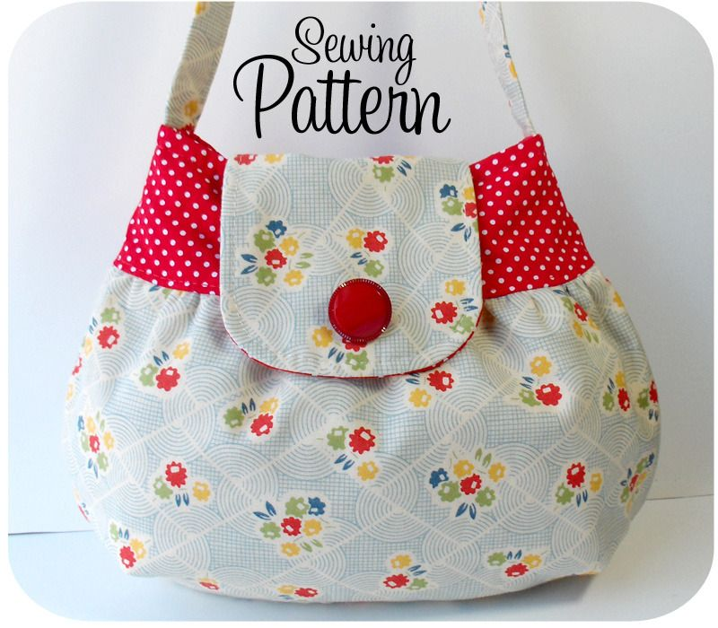Free Fabric Handbag Patterns | Bag sewing pattern | Shop bag sewing ...