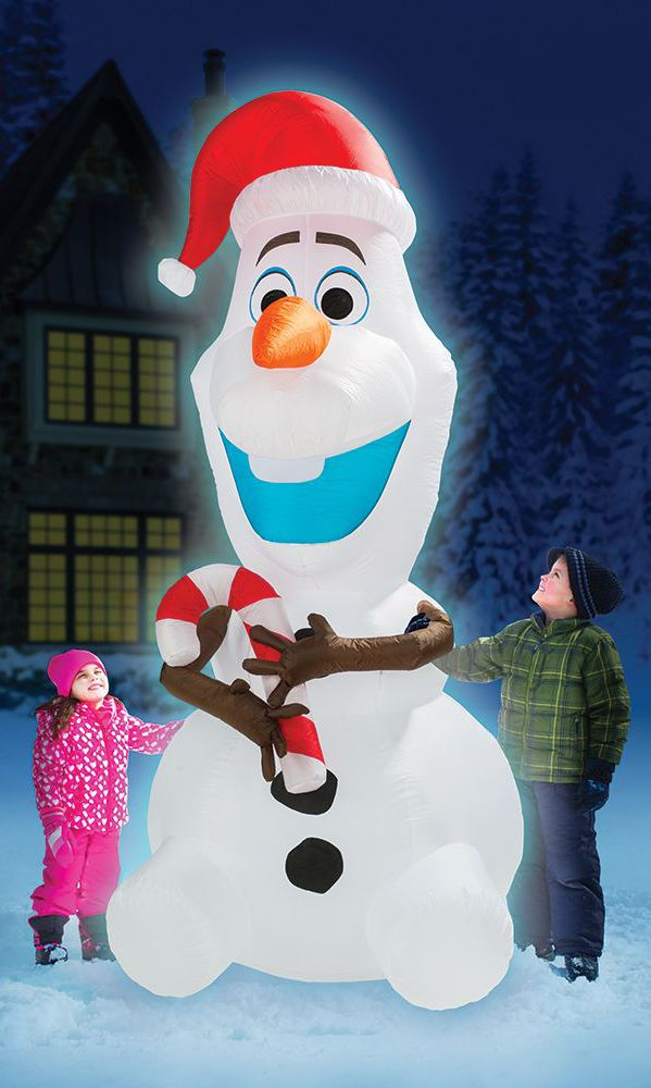 the 8 inflatable olaf christmas decoration this is olaf the snowman companion from frozen and the only 8 tall version of his kind available exclusively
