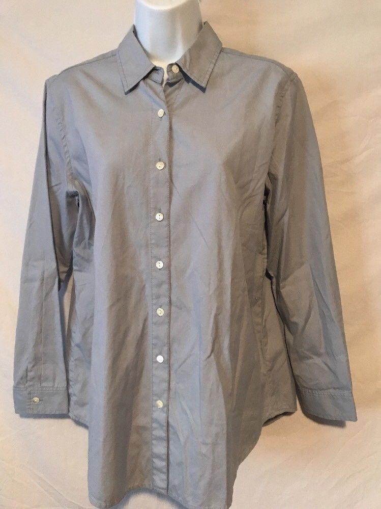5a807a228a3 J. Jill Women XS NWT New Blue Gray Button Down Shirt Top Cotton