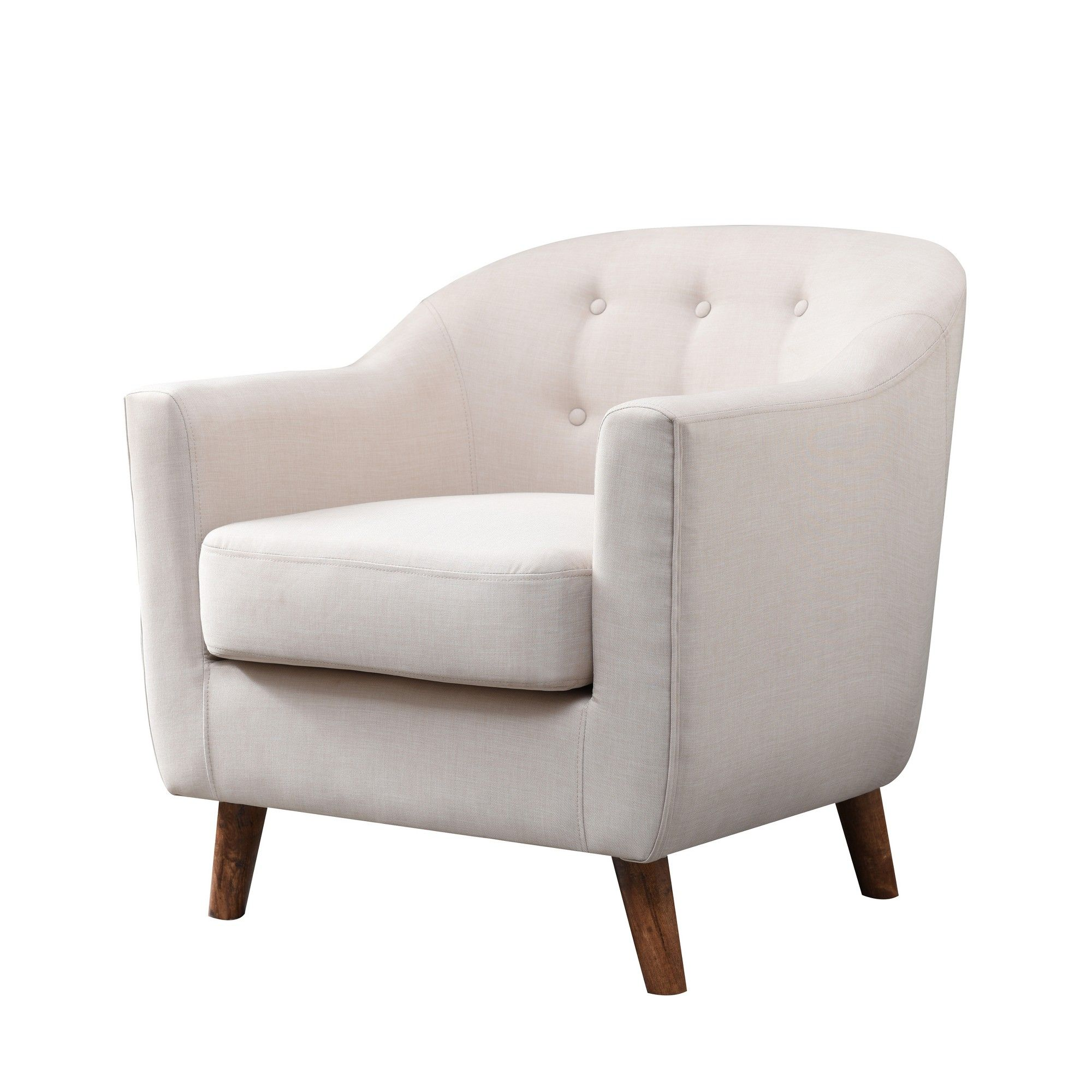 Belka tufted upholstered accent chair almond cream mibasics in