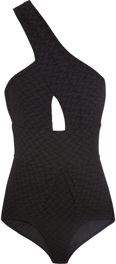 Zimmermann Scout one-shoulder textured swimsuit on shopstyle.com.au