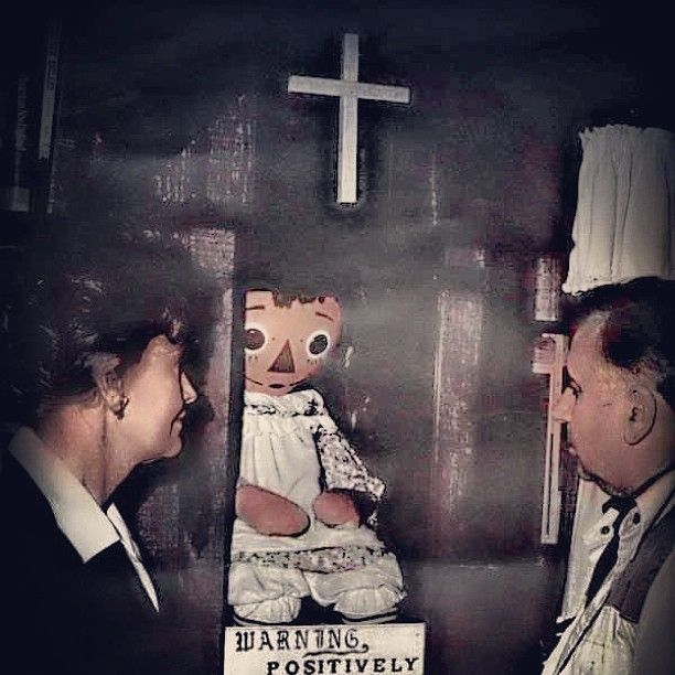 Ghost Museum Of Science: Ed And Lorraine Warren With Annabelle At The Warren Occult