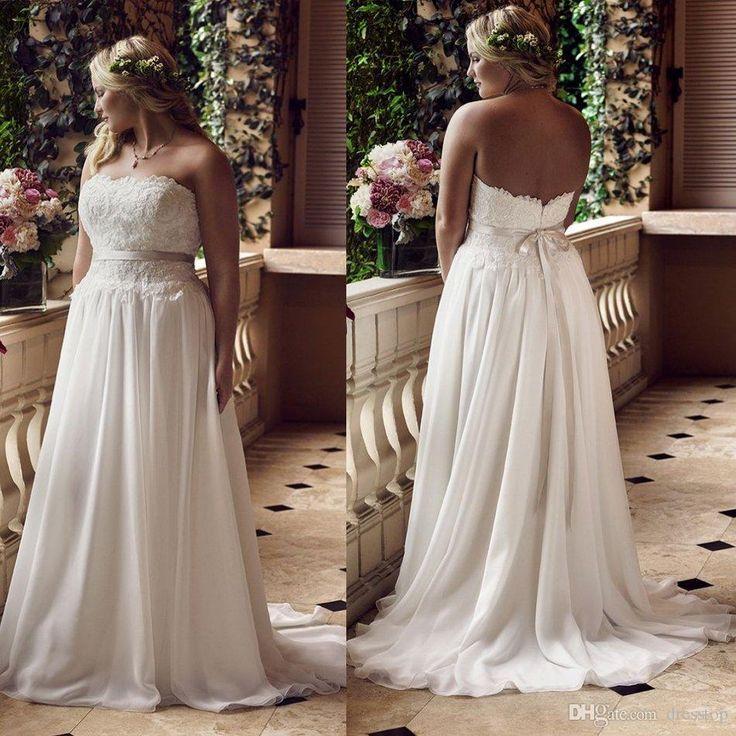 New Arrival Plus Size Wedding Dresses Strapless Neck S…   Wedding ...