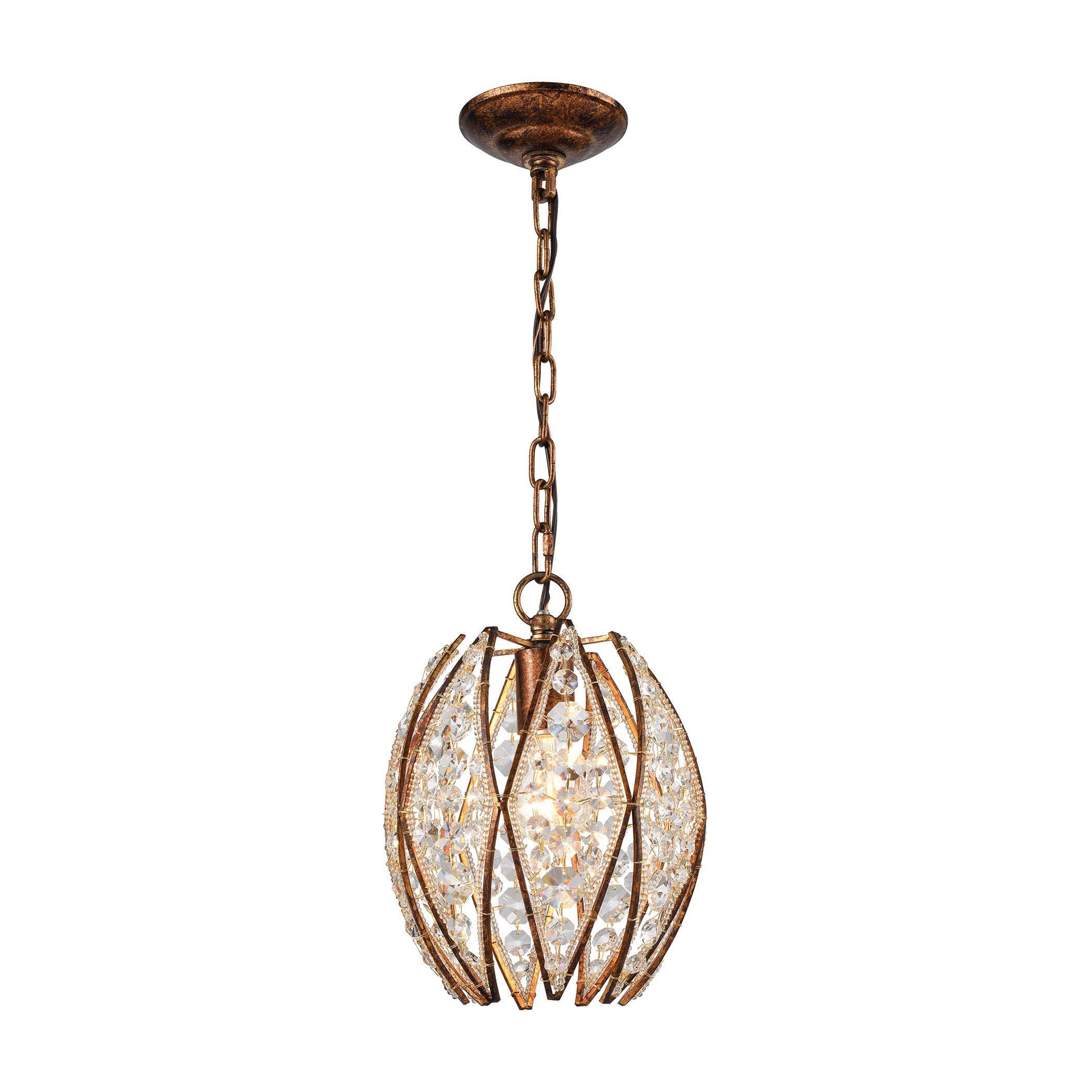 Kumbaya 1 Light Pendant In Spanish Bronze