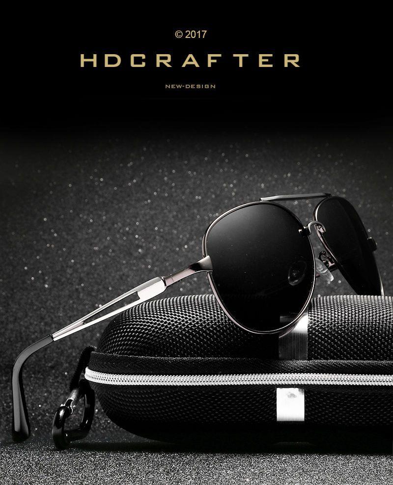d479bff81cb2 Black Polarized Aviator Men Glasses Outdoor Sports Eyewear Driving UV  Sunglasses in Clothing