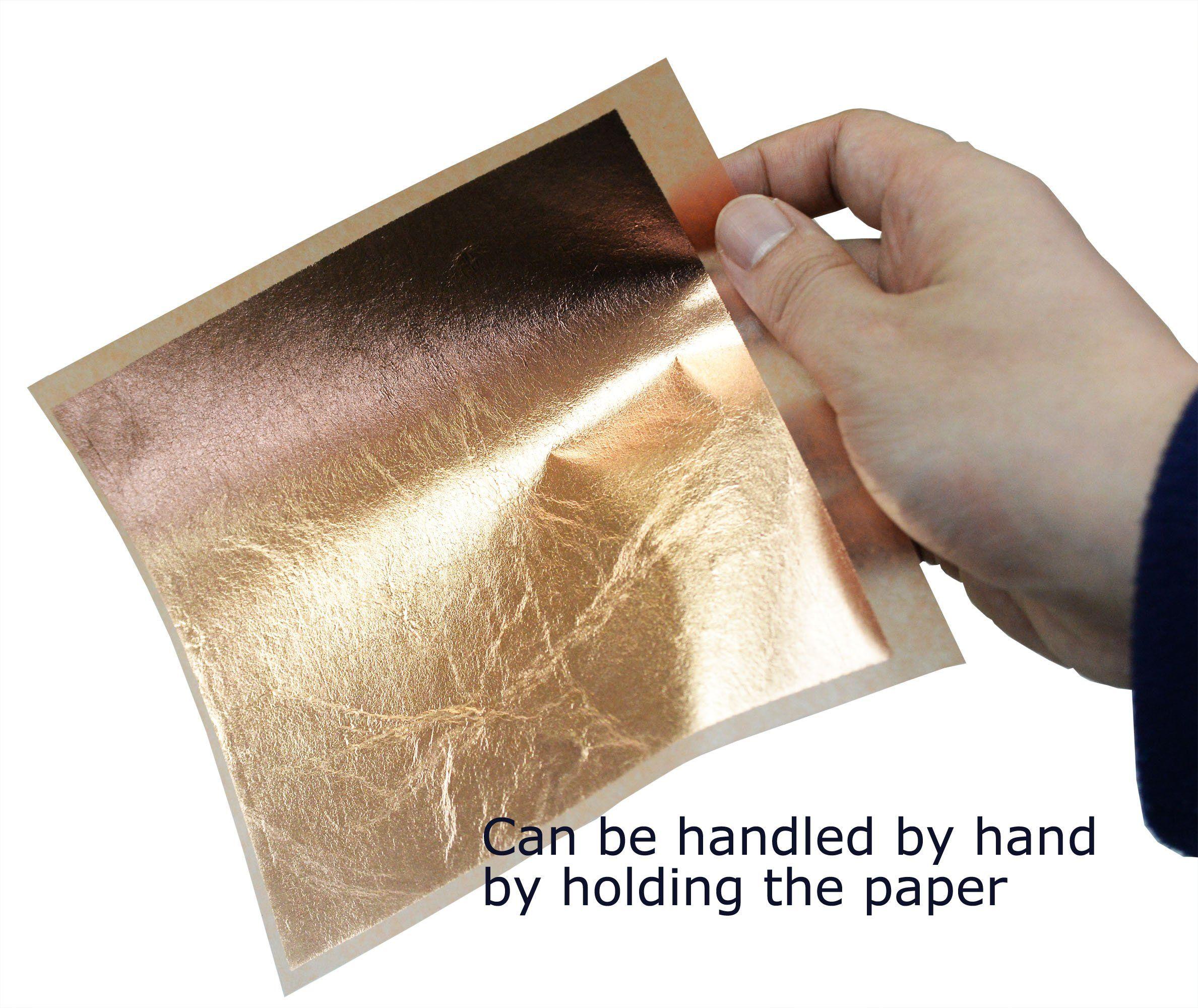 25 Sheets Genuine Gold Leaf 12k 80MM