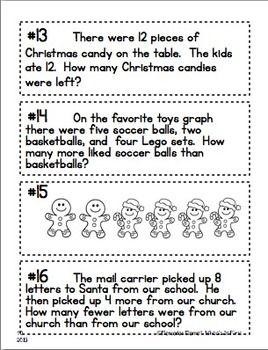 December Math: Solving Story Problems First Grade | Best of ...