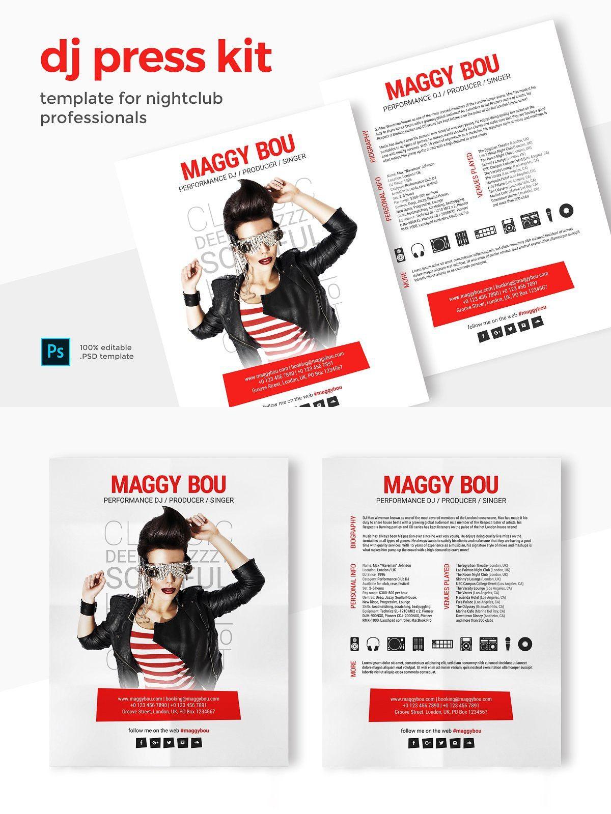Press Kit / Resume for MC, Host, DJ in 2020 Press kit