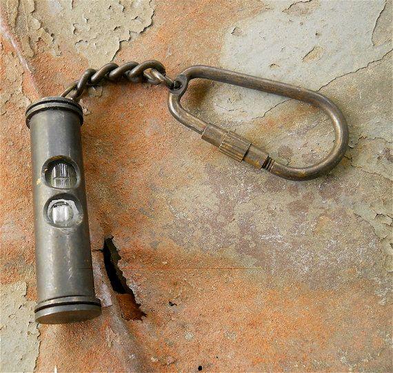 Steampunk Key Chain Vintage Spirit Level Vintage Finds
