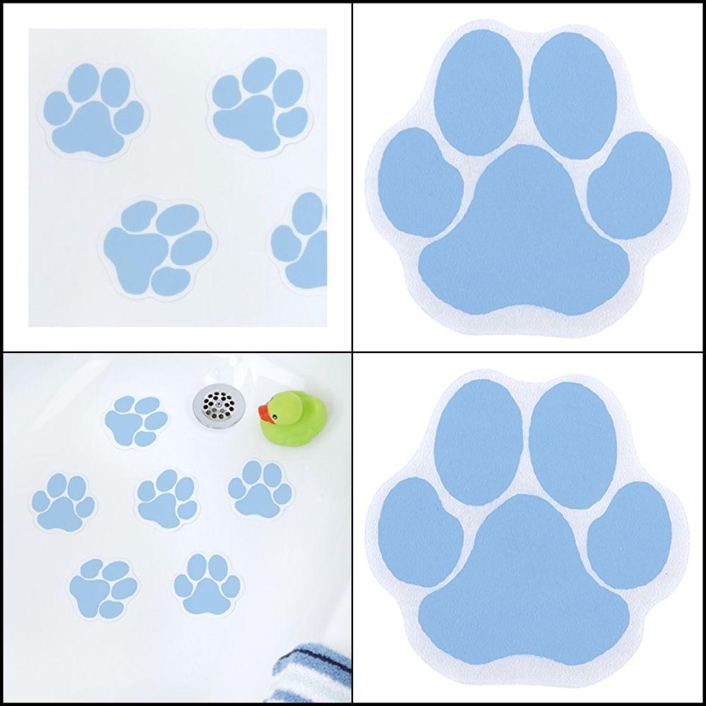 Blue Bathtub Safety Treads Bathroom Shower Adhesive Non Slip Anti ...