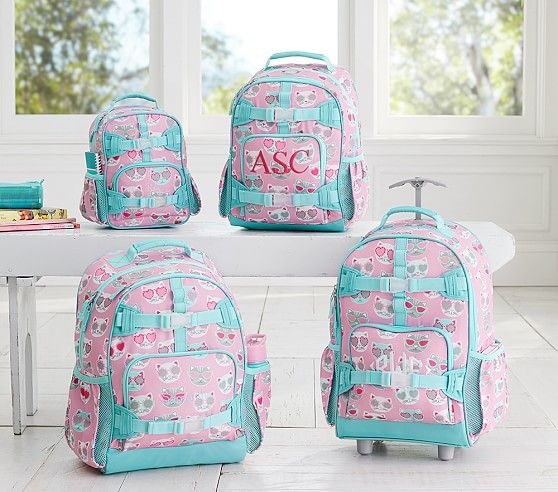 Mackenzie Pink Sun Cat Backpack Pottery Barn Kids This