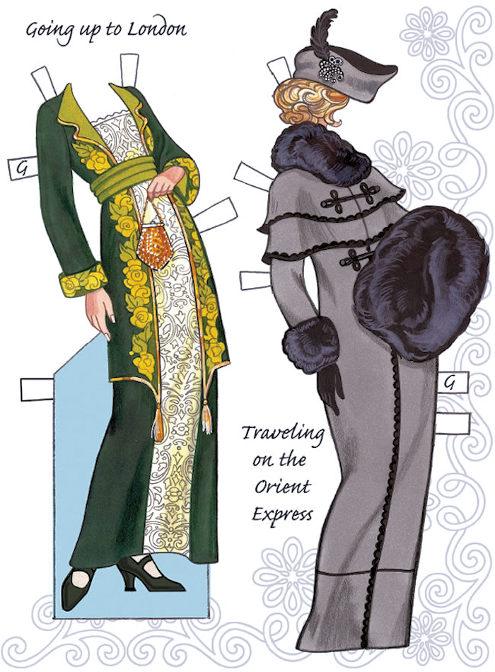Dover English Country Paper Dolls in the Downton Abbey Style Doll 1 Costumes