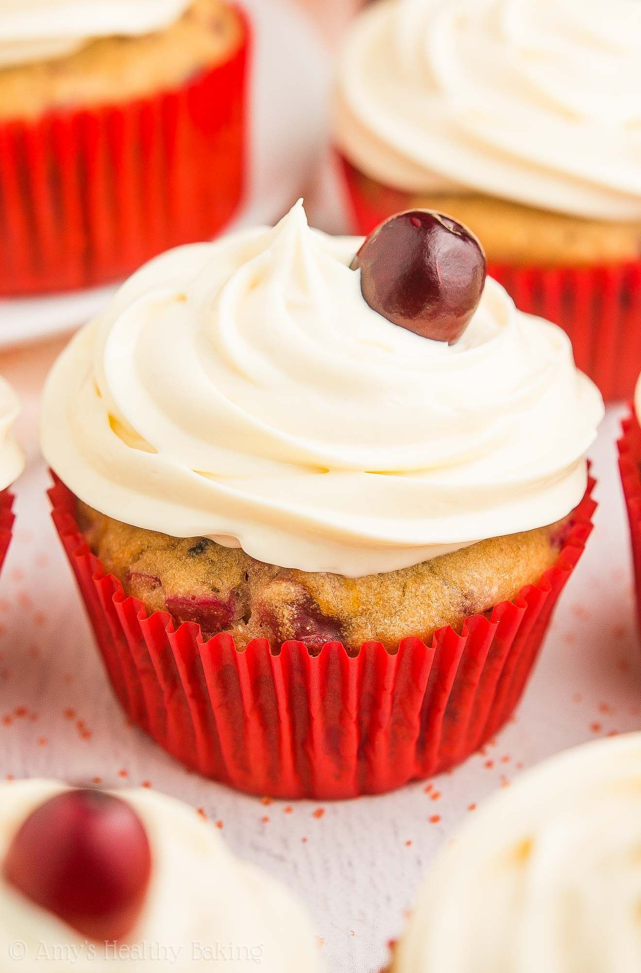 Healthy Cranberry Orange Cupcakes Only 118 Calories