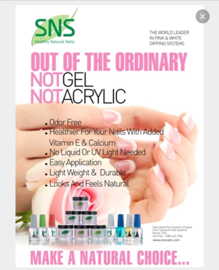 Sns The New Signature Nail System From America No Gel Or Acrylic Healthy Choice