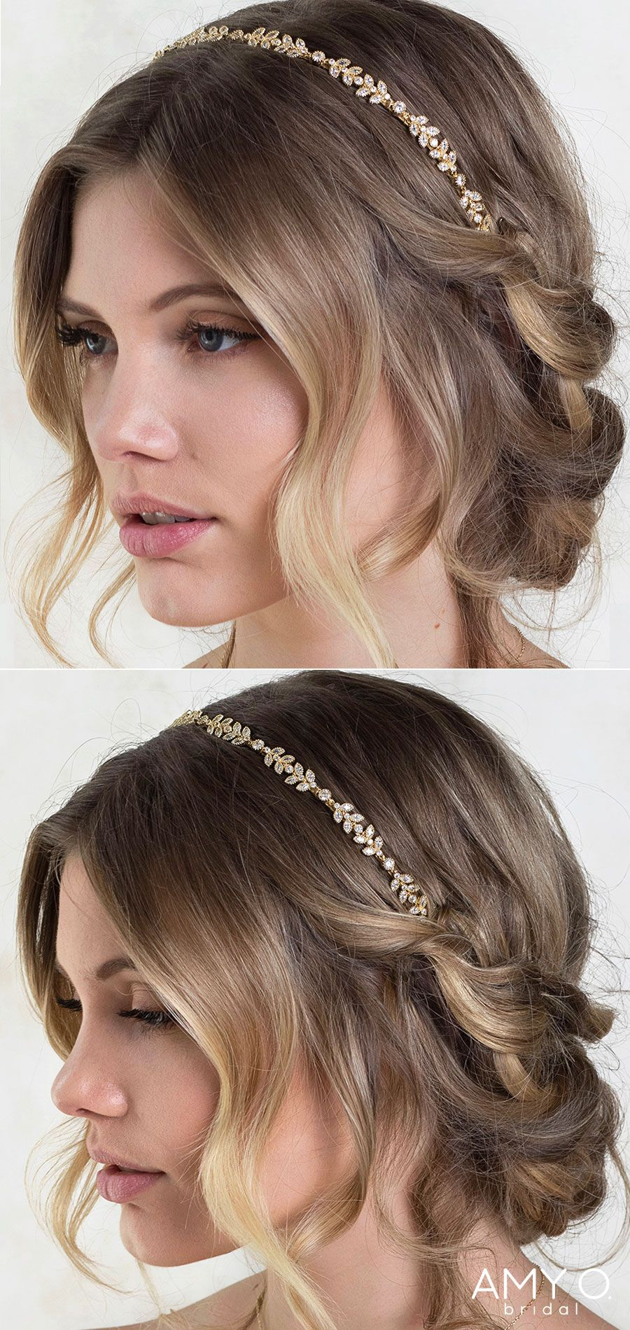 Boho Crystal Leaf Vine Headband Headband Hairstyles Wedding Hair Headband Long Hair Styles