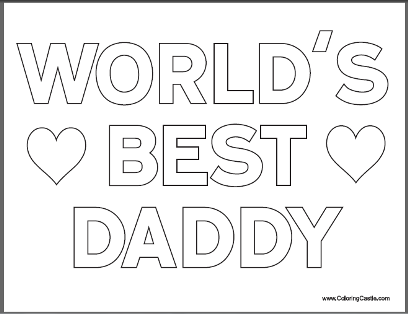 Free Fathers Day Coloring Pages for Kids Happy father Father