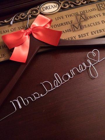 Personalized Wedding Hanger | My Wedding | Pinterest | Wedding ...