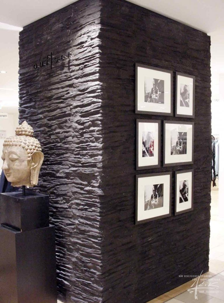 schieferwand projekt physiotherapie pinterest w nde steinwand und schiefer. Black Bedroom Furniture Sets. Home Design Ideas