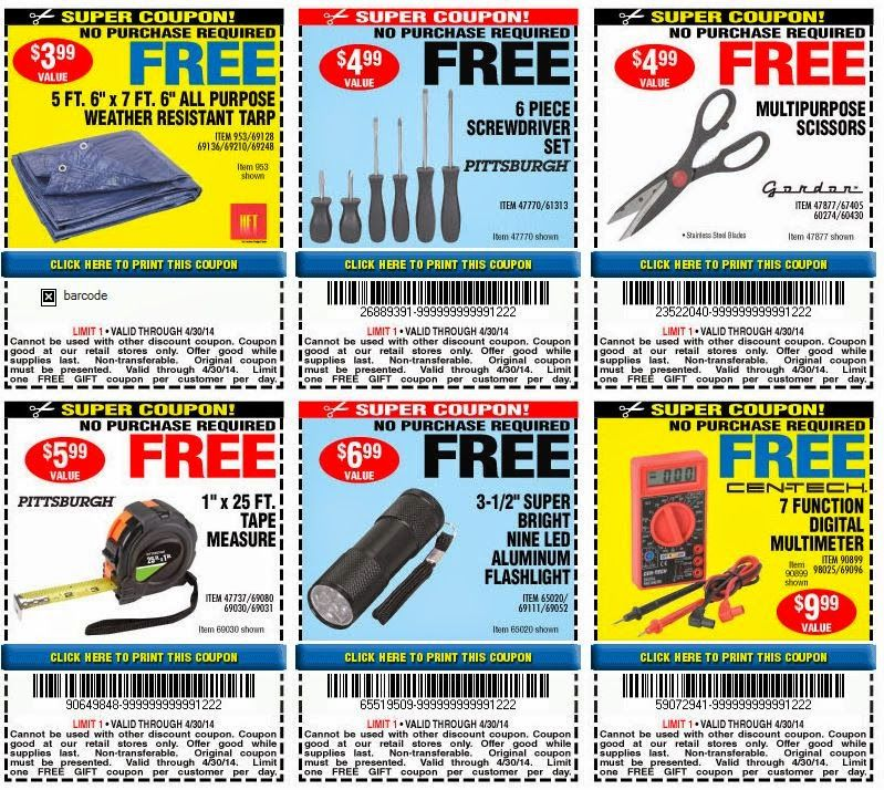 Harbor Freight: 20% off Purchase Coupon! + FREE Flashlight