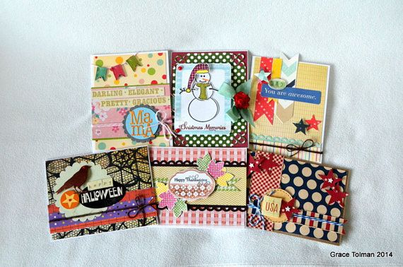 Graceworthy Designs. Assorted Handmade Card Set *Holiday set*