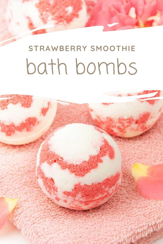 Diy moisturizing bath bombs strawberry milkshake bath