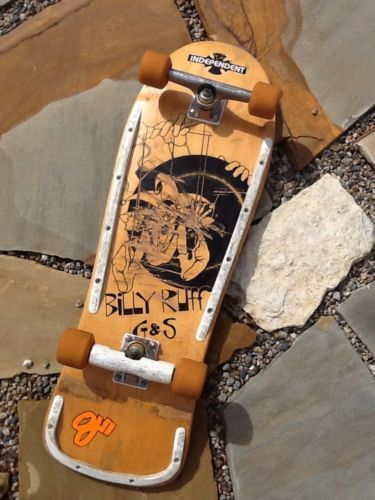 diablodickey is selling a vintage G&S Billy Ruff skateboard. The deck comes with all original parts, Independent 159 rear and 169 front with OJ 2 - 97a - 60mm wheels.