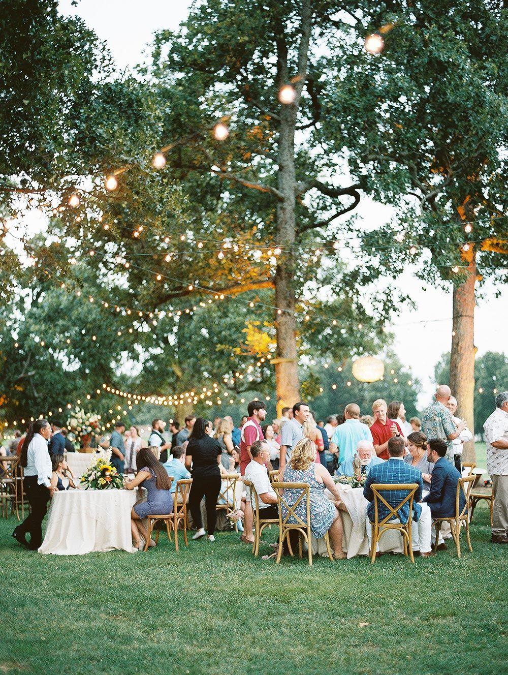 This Italian Wedding In Arkansas Had A Mega Size Guest List Ruffled Wedding Guest Book Outdoor Wedding Outdoor Wedding Reception