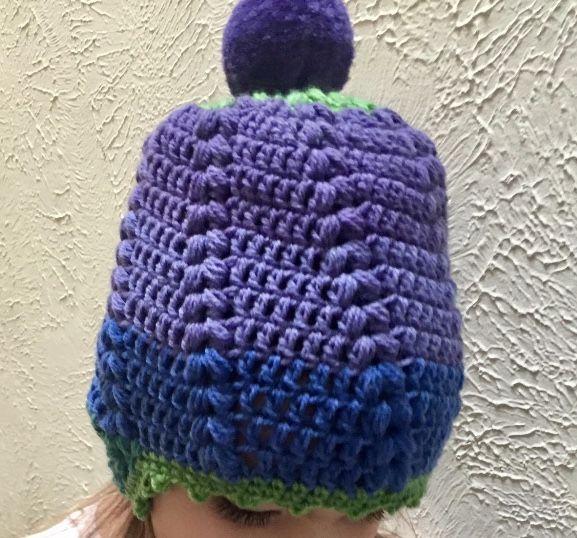 Wild berry Hat crochet Caron Cupcake Yarn (pic by Amber B) | Caron ...