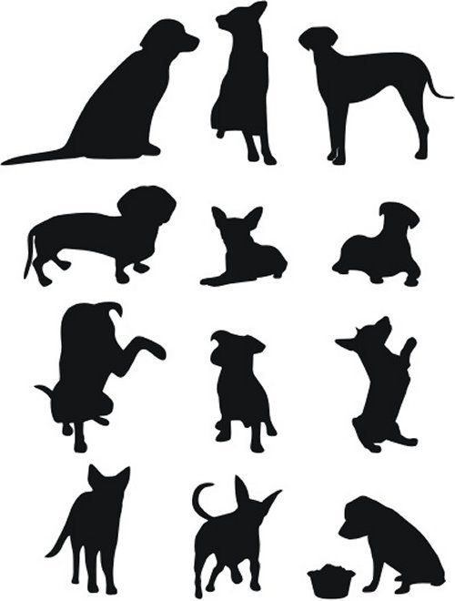 50 Free High Quality Silhouette Sets Dog Silhouette Dog