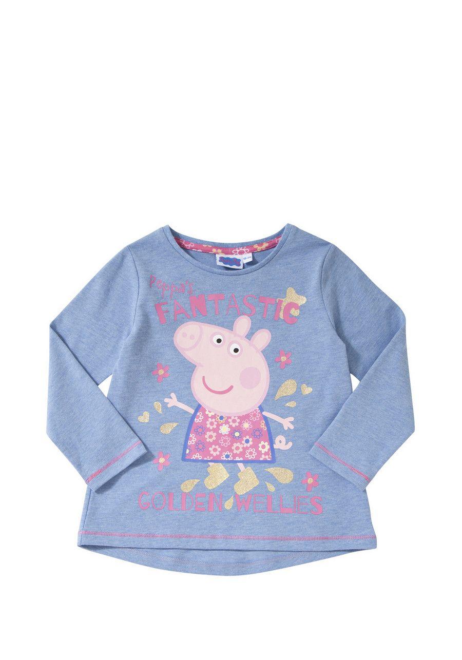 Peppa Pig Golden Wellies T-Shirt from Tesco | Girls top | Pinterest ...