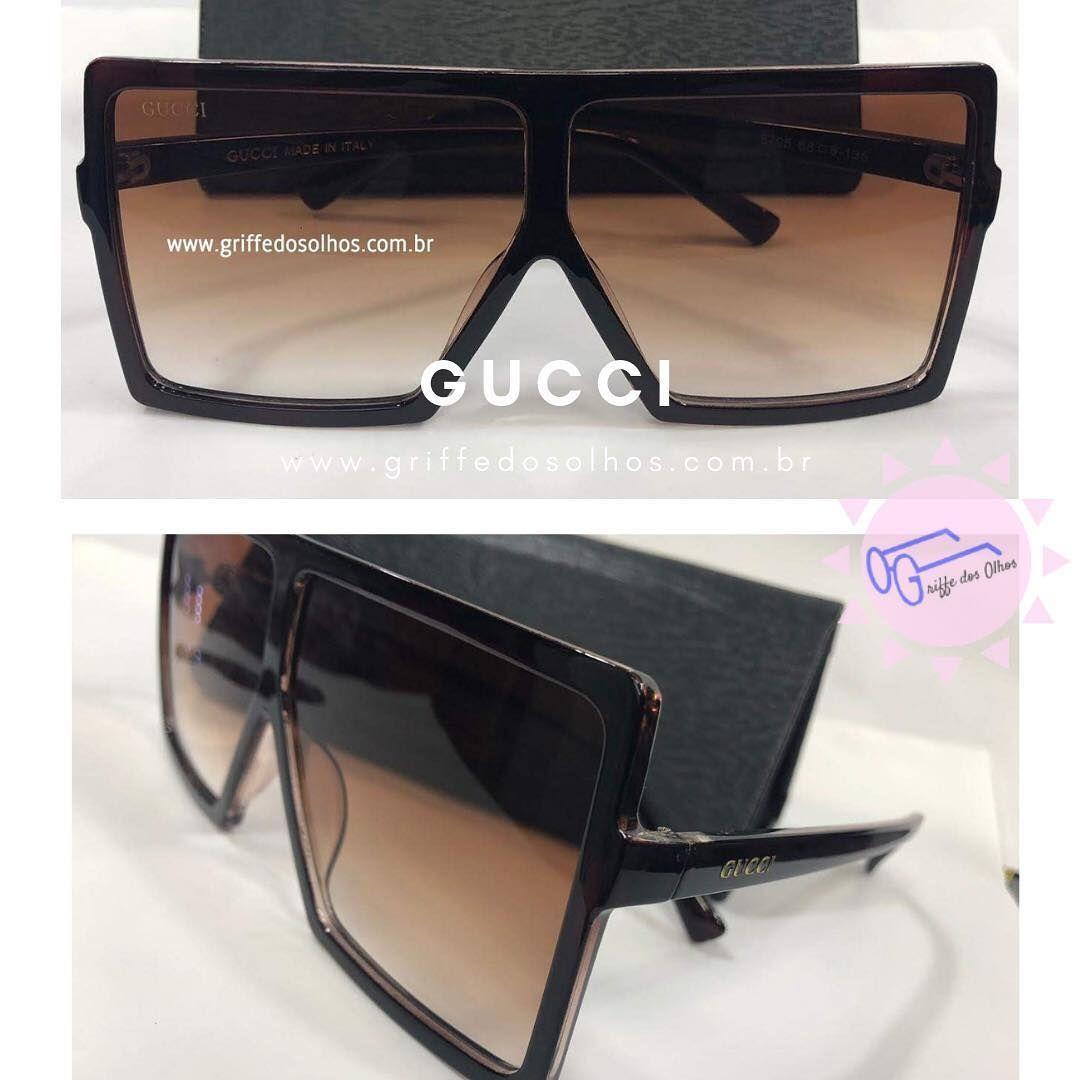 2d5df7124 Óculos Gucci Oversized ✅R$ 140,00 parcele em até 12x pelo Pagseguro ...