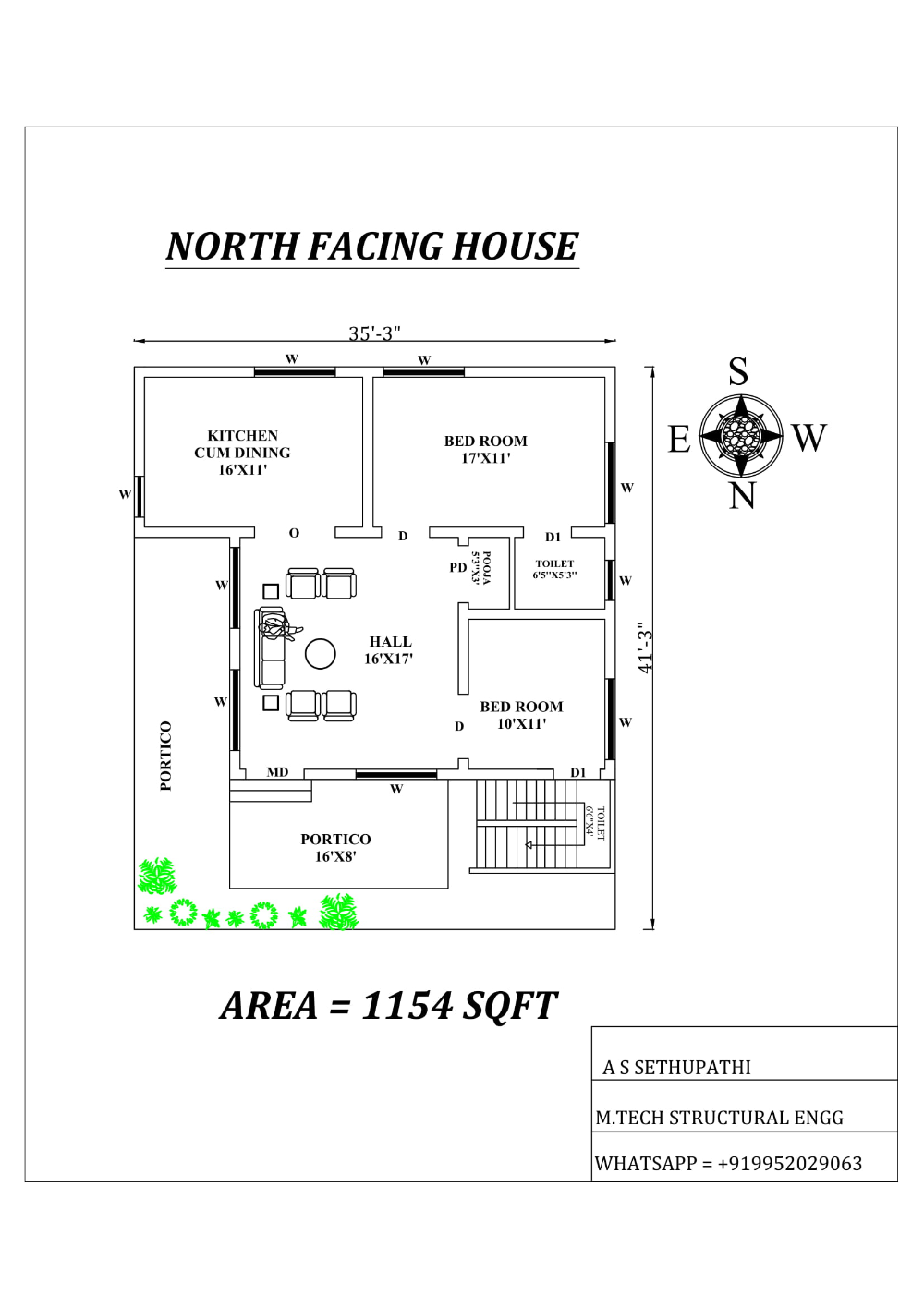 North Facing House Plan As Per Vastu Shastra Cadbull North Facing House Indian House Plans Budget House Plans