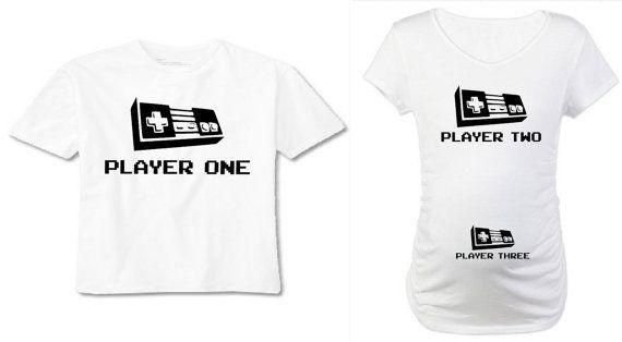 3c4f3cbe3e Video Game Pregnancy Announcement Shirt. Player 1 Player 2 Player 3 Pregnancy  Shirt Matching. Mens Pregnancy Announcement Shirt.