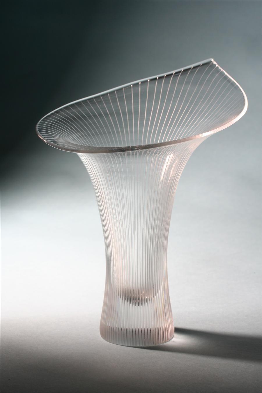"""Vase """"Kantarelli"""". Designed by Tapio Wirkkala for Iitalla, Finland. 1950's."""