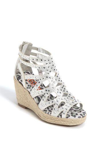 Beige New Toddler Wedge Cork Heels Girls Sandals Kids Slippers Shoes Size 9